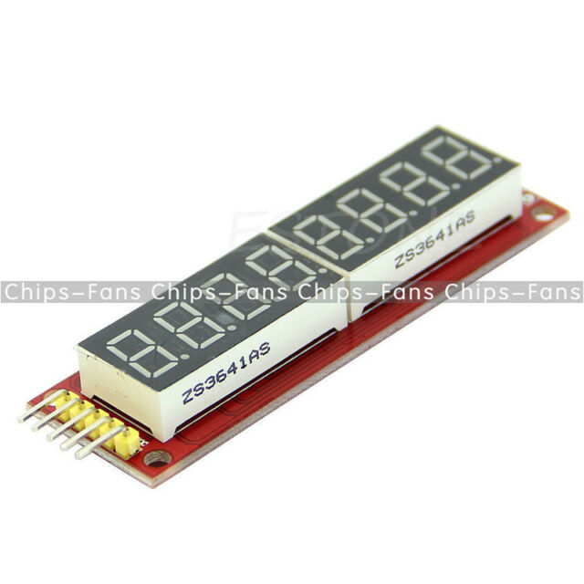 NEW Red MAX7219 8-Digit LED Display Module Digital Tube Arduino SPI Control CF