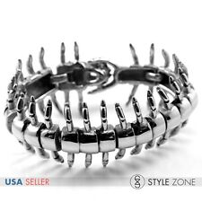 Men's Stainless Steel Gothic Vintage The Centipede Full Body Bracelet Cool B70