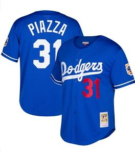 Details about Royal MITCHELL NESS Los Angeles Dodgers  31 Piazza BATTING  PRACTICE MESH JERSEY f8b922803