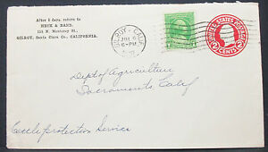 US-Postal-History-Stationery-Cover-First-Day-3c-Rate-GS-Rnd-USA-Letter-H-10840