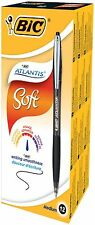 BiC Atlantis Premium Ball Pen with Easy Glide Ink - Black (Pack of 12) Box x 12