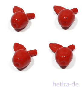 LEGO-4-x-Apfel-rot-Apfel-rot-Red-Apple-33051-NEUWARE