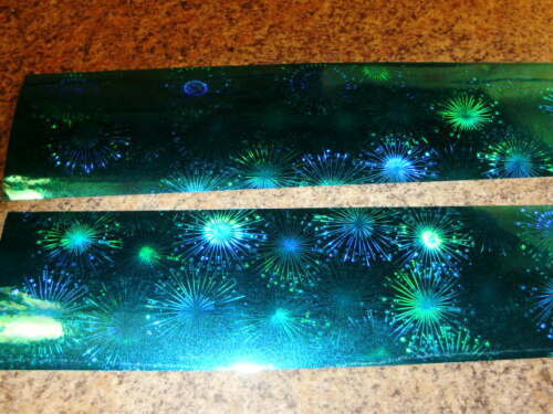 "NEW TAPE 3/"" x 12/"" 2 Pack Turquoise FIREWORKS Holographic Fishing Lure Tape"