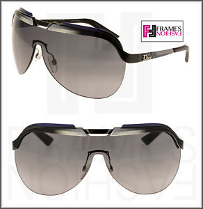5078e54a87 Image is loading CHRISTIAN-DIOR-SOLAR-Black-White-Grey-Gradient-Metal-