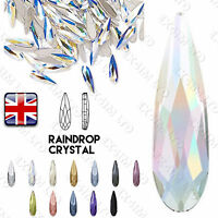 12 COLORS 3x10mm Raindrop Clear AB Rhinestones Shape Crystal Glass 3D Nail Art
