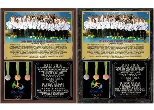 Team USA Swimming 2016 Rio Olympics Photo Plaque Gold Medals