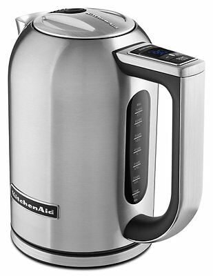 KitchenAid 1.7-Liter Electric Kettle with LED Display - Brushed Stainless Steel