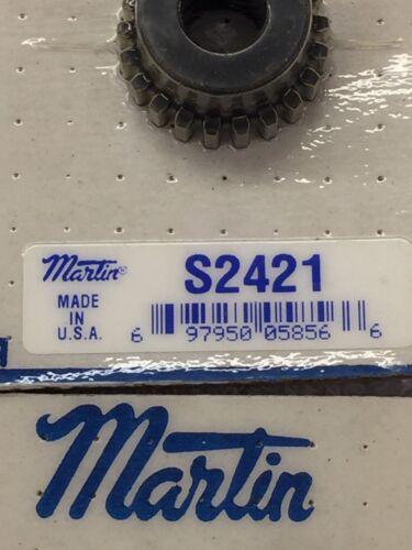 "MARTIN GEAR S2421 SPUR GEAR 24 PITCH 21 TEETH 3//8/"" BORE LATHE MACHINE ETC."