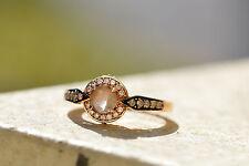 Le Vian Ring 1/5ct Smoky Quartz and Diamond Ring 14k Gold size 5-1/2