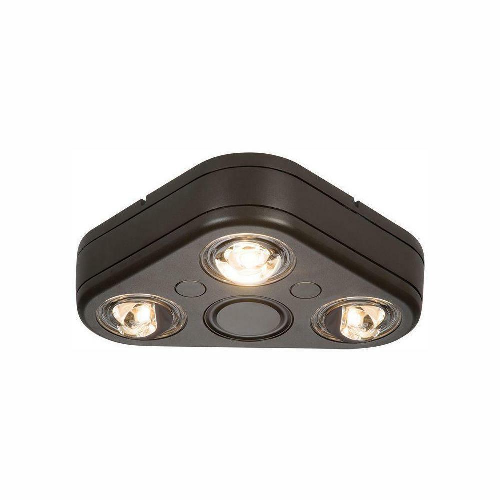 All-Pro giran Bronce Triple Cabeza al Aire Libre Seguridad LED integrado luz de inundación