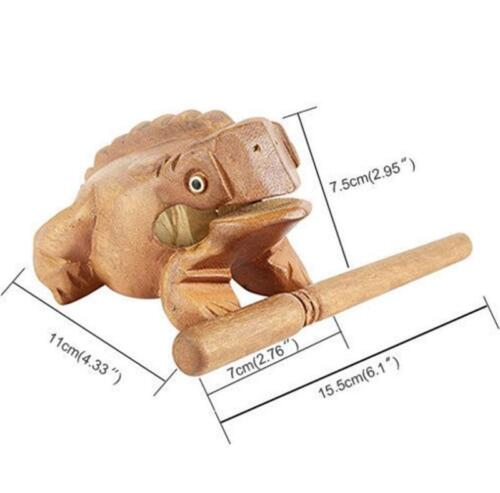 Wood Frog Handcraft Toy Musical Instrument Percussion Natural Frog Sound