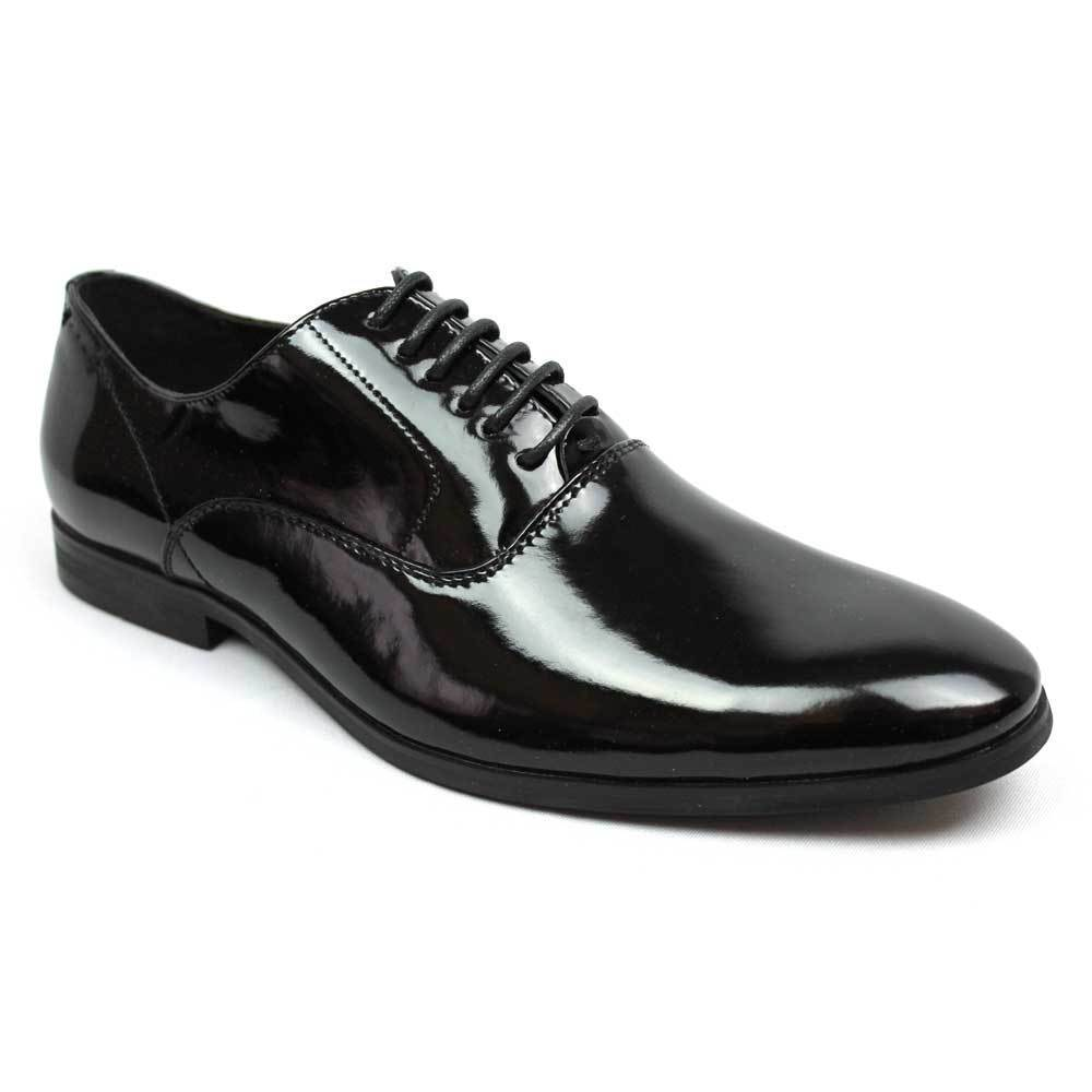 Mens Dress Tuxedo   Formal Round Toe Patent Leather Lace Up Oxfords By AZAR
