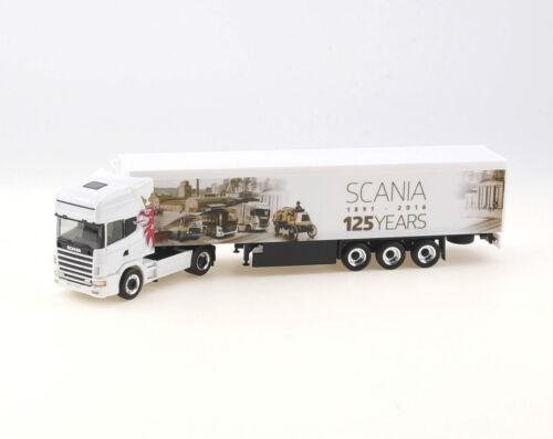 "Scania 124 TL Schubboden-SZ /""125 Jahre Scania/"" OVP Herpa 1:87-306454 NEU"