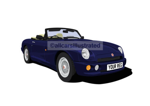 MG RV8 CAR ART PRINT PICTURE PERSONALISE IT! SIZE A4