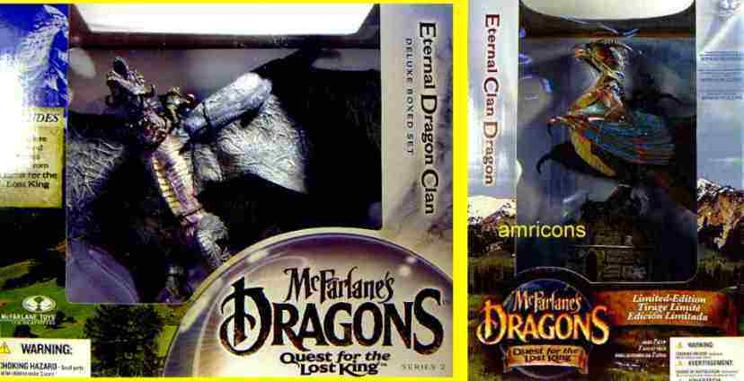 Eternal Clan Dragon Deluxe Box Set of 2 New 2005 McFarlane Toys Factory Sealed