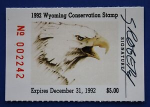 Image Is Loading U S WY09s 1992 Wyoming State Conservation Stamp MNH