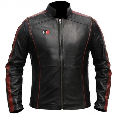 Massa Effetto 3-N7 COMANDANTE Shepard elegante 100% real leather jacket