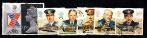 Grossbritannien-1986-Mi-1083-1089-Gestempelt-100-Koenigin-Persoenlichkeit-Mili