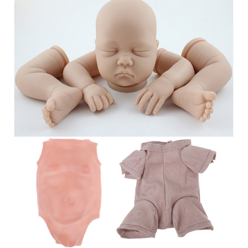 Real Touch Silikon 22  Reborn Puppe Kit Baby Mädchen Form Kopf Gliedmaßen