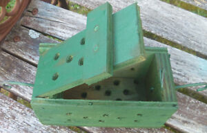 Details About Bait Box Trap Crab Wooden Green Party Decor Tiki Fish Lobster Shrimp Vintage
