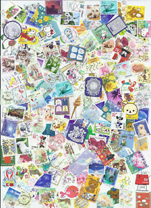 Japan-Collection-Packet-of-100-Different-Used-Definitives-Mostly-82Y-2014-2018