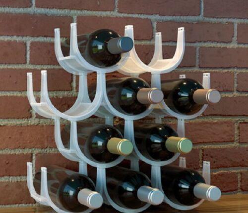 10 bottiglie. Portabottiglie cantinetta trasparente  per vino acqua componibile