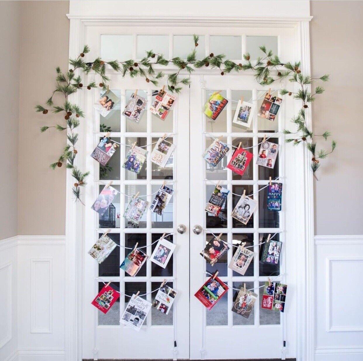 Christmas Star Design Over The Door Greeting Card Holder Display Organizer For Sale Online Ebay