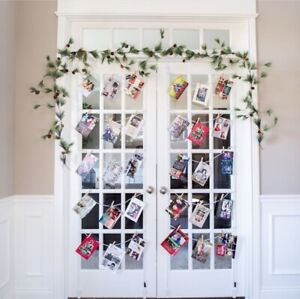 Collagee Easy Over The Door Adjustable Christmas Card Holder