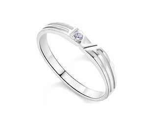 Unisex S925 Sterling Silver Love Super Shining CZ Ring/Can be Couples Ring