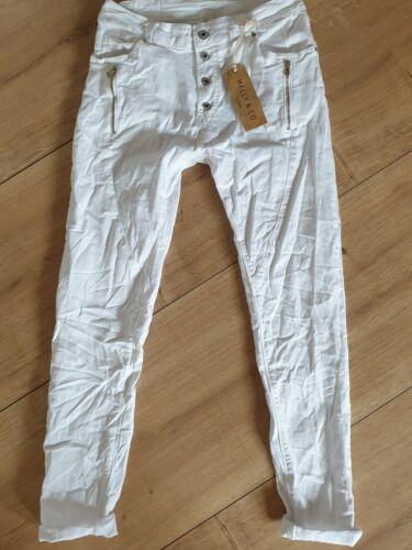 Italy 2020 Melly /& co jeans pantalon taille XL blanc mc8135-2 Italy Trendy 2020
