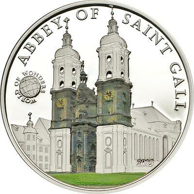 Rational Palau 2015 $5 World Of Wonders Wmf Abbey Of Saint Gall 20g Silver Proof Coin Durable Modeling Coins: World Australia & Oceania