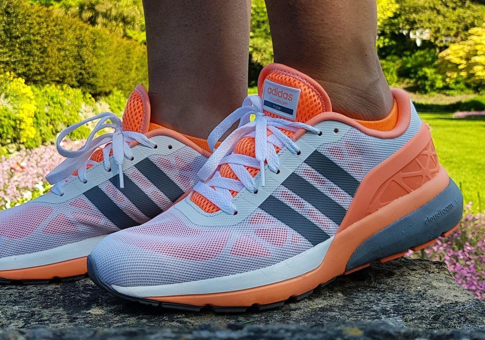 Adidas Damenschuhe Girls Cloudfoam Flow Trainers Running Schuhes F99560 UK 7-9.5