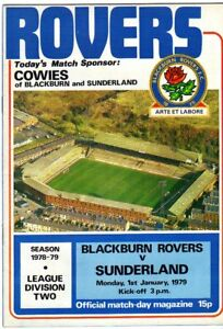 BLACKBURN-ROVERS-V-SUNDERLAND-1-1-1979-DIV-2-PROGRAMME