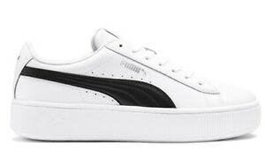 Details about Puma Vikky Stacked L Women's Shoes Sneakers Stan Leather Smith Casual Run White
