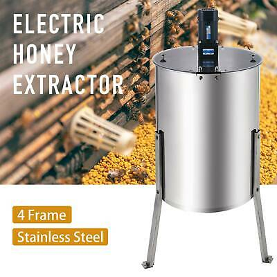 4//8 Frame Bee Honey Extractor Beekeeping Stainless Steel Honeycomb Electric