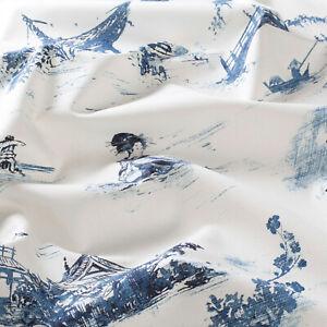 """substances Design!"" Amazing Garden Tissu Au Mètre Bleu Coton Chine Chivasso-amazing Garden Stoff Meterware Blau Baumwolle China Chivasso Fr-fr Afficher Le Titre D'origine Lustre Brillant"