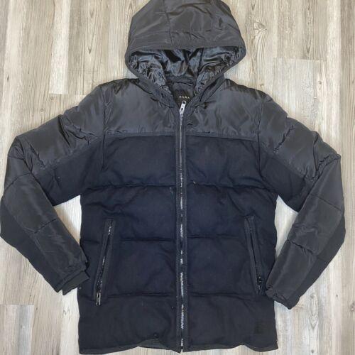 Zara Mens Size Small Black Winter Coat