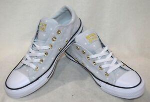 98d85a67 Converse para mujer All Star Madison Buey P-Platino/oro TENIS-Talla ...
