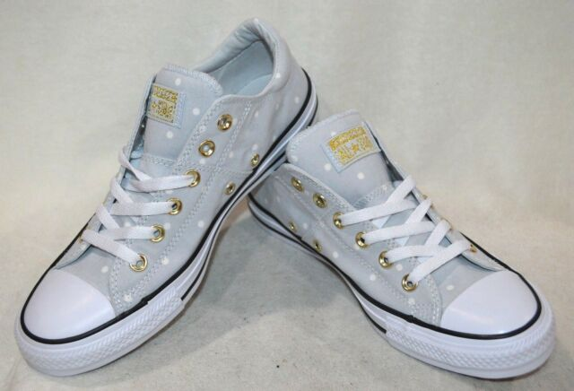 wholesale dealer aa839 2c309 Converse Women s All Star Madison OX P-Platinum Gold Sneakers-Sz 6