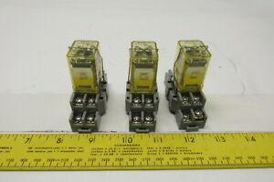 Lot of 3 New Surplus  IDEC RH2B-UL
