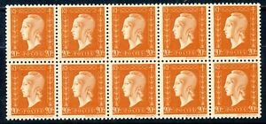 STAMP-TIMBRE-FRANCE-NEUF-N-700-bloc-de-10-timbres-MARIANNE-DE-DULAC