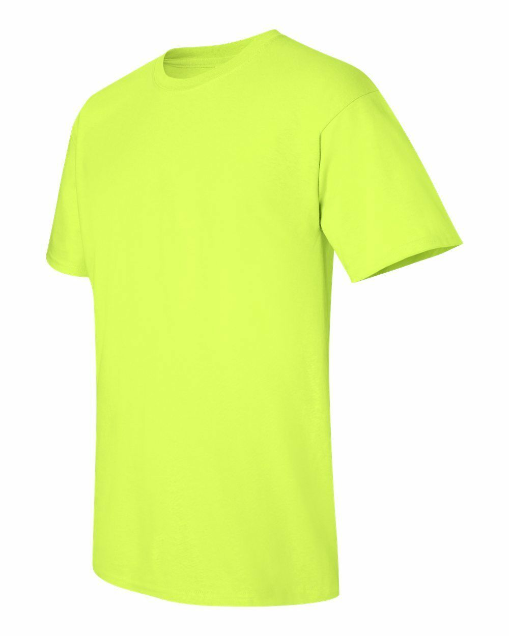 24 Gildan Safety Green Blank Bulk Wholesale Lot Adult Plain T-Shirts S M L XL