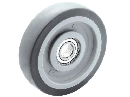 8 X Double rôle rückenloch Lenkrolle TRANSPORT poids lourd rôle Ø 75 mm temps de conduite-temps de conduite