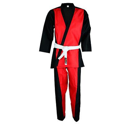 Honest Playwell Elite Dobby Tela Uniforme Rojo Freestyle Artes Marciales Trajes Demo Skilful Manufacture Boxing, Martial Arts & Mma