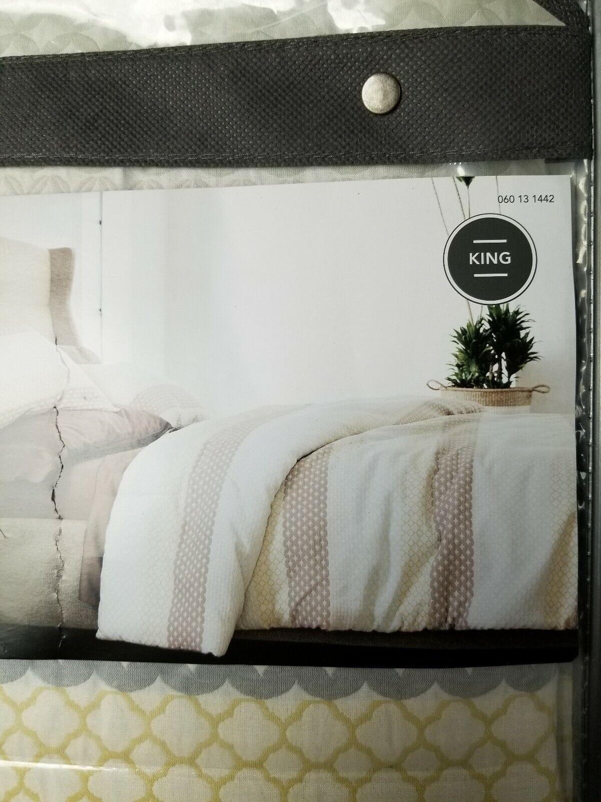Threshold Geometric Stripe King Comforter Set