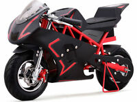 Pocket Bike Mini Motorcycle Gas 40cc Powered Ride On Red Boys Girls Youth