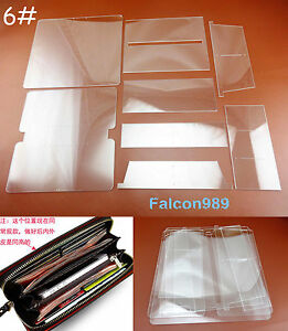 4pcs Leather Craft Acrylic Perspex Long Wallet Pattern Stencil Template Tool Set