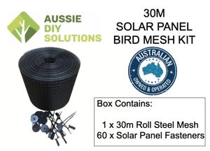 30m Solar Screening Mesh Panel Bird Kit Proofing Easy Installation Bird Kit