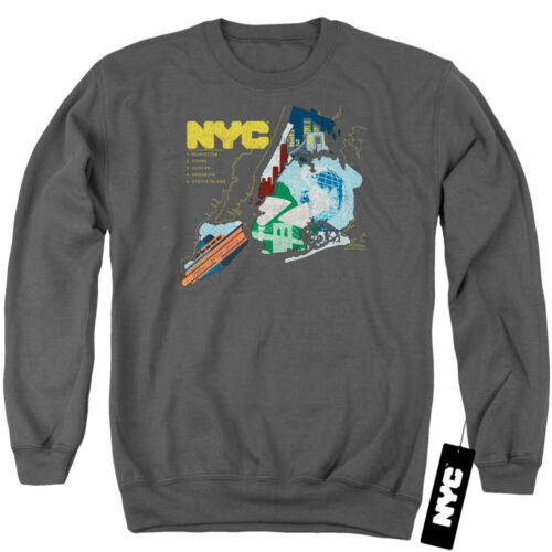 Five Charcoal Boroughs Sudadera con capucha Nyc qXwBT4OBt