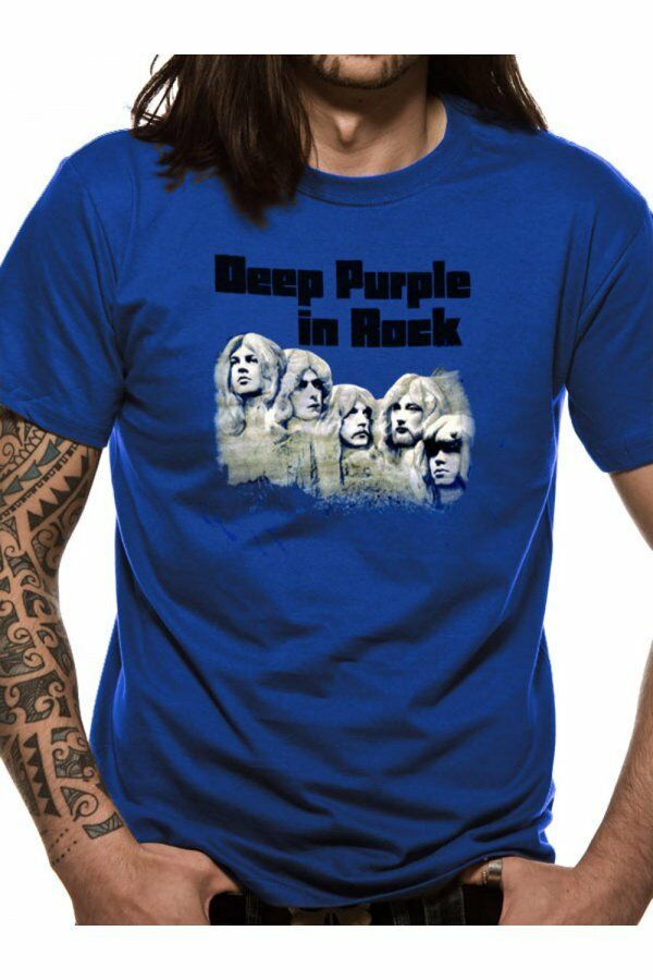 Officiel Deep Violet in Rock T Shirt Bleu Band Band Bleu Tee PROG ROCK Toutes Tailles d5d3e1